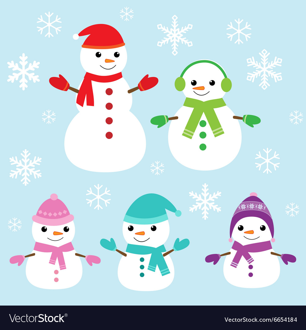 Cute and funny snowmen