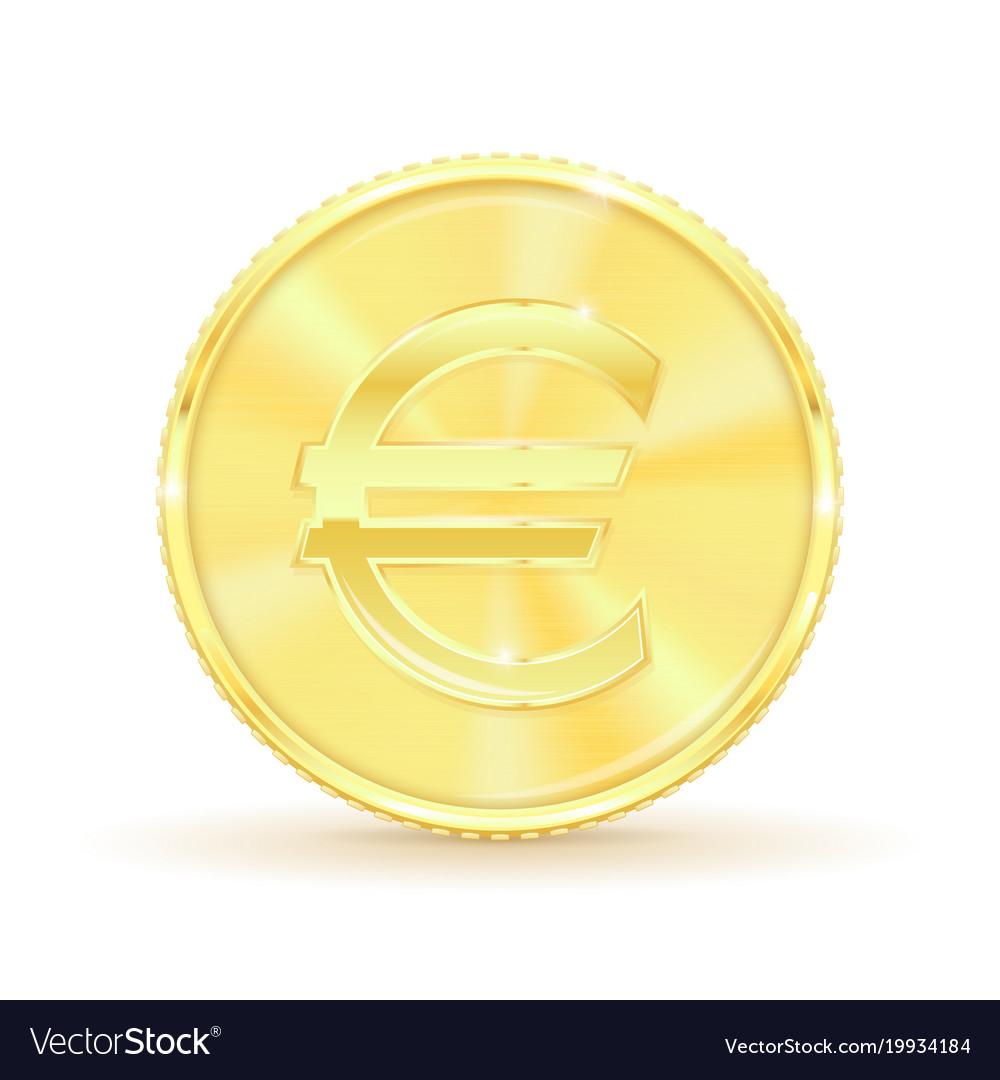Euro golden coin
