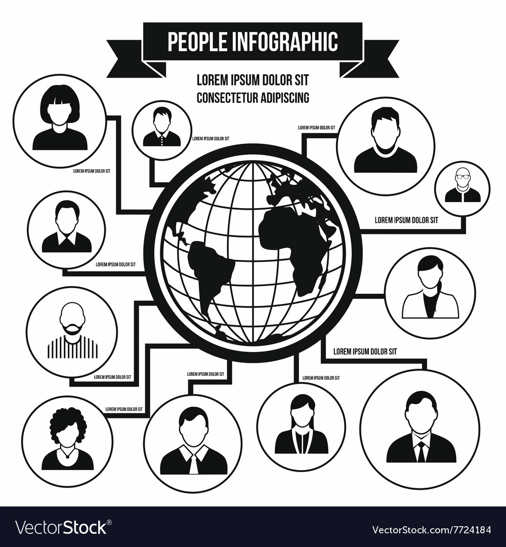 Human infographic simple style