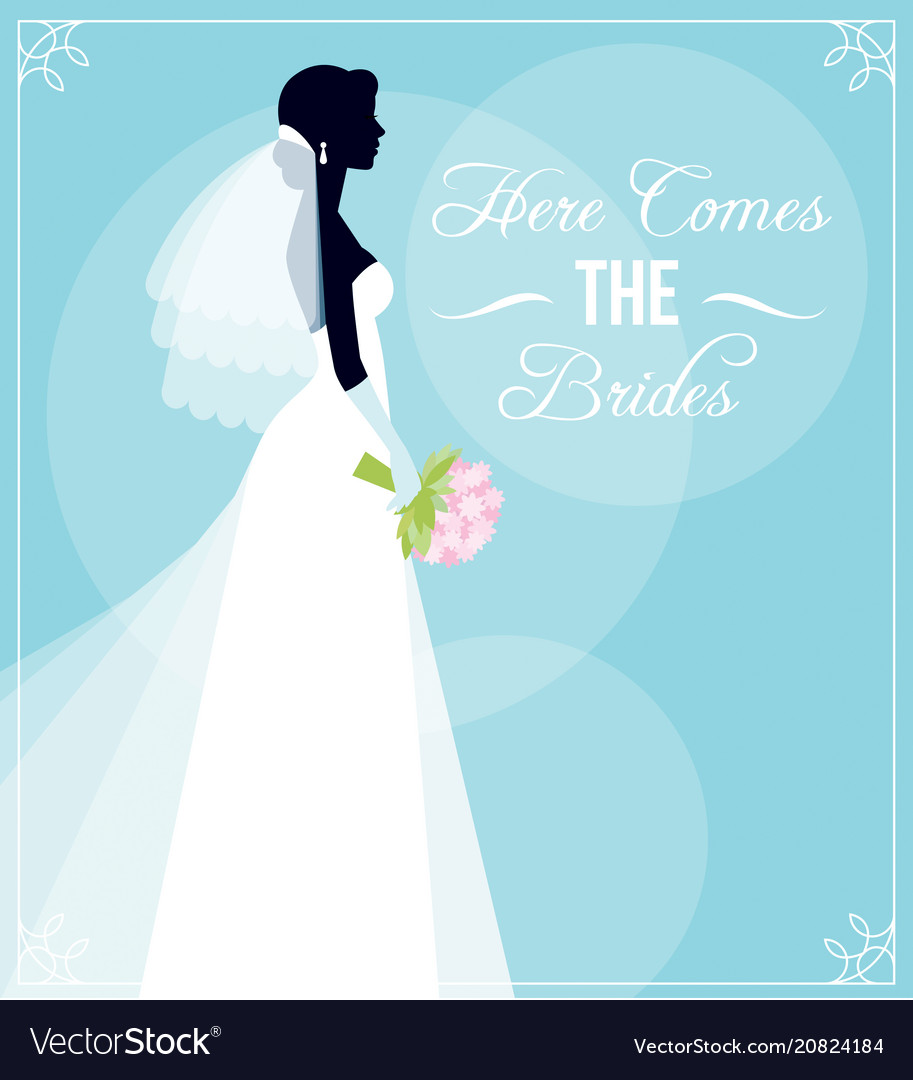 template flyer for the bridal shower or for a vector image