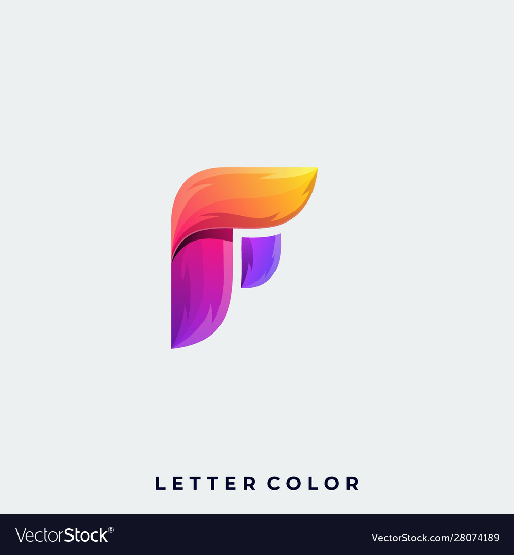 Abstract letter design template
