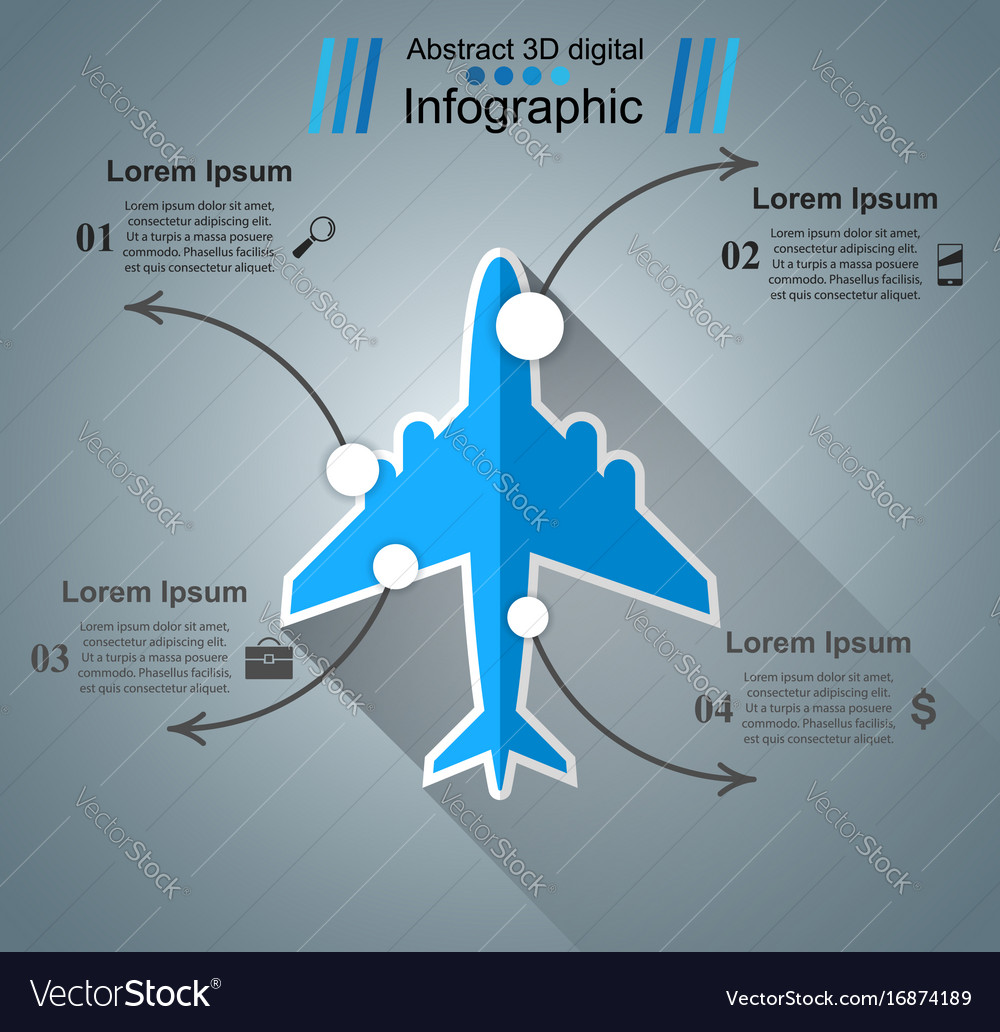 Airplane infographic business icon
