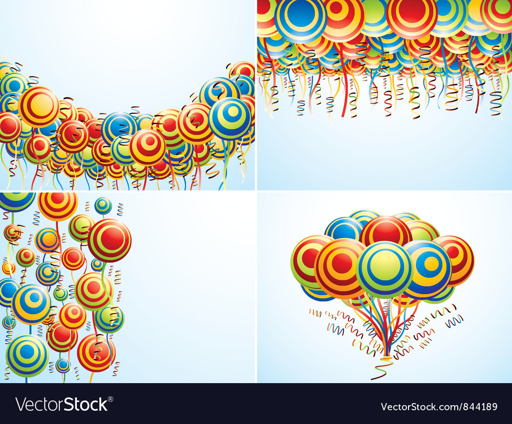 Four composition with creative balloons
