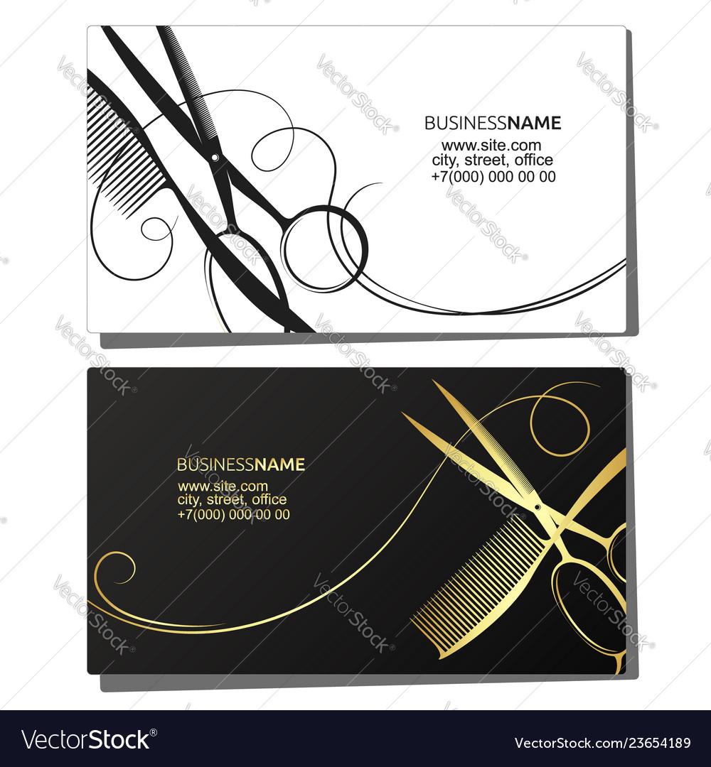 Hairdresser Beauty Salon Business Card Royalty Free Vector