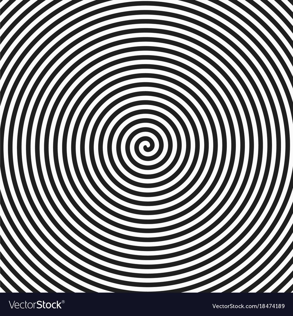Hypnotic spiral vector image