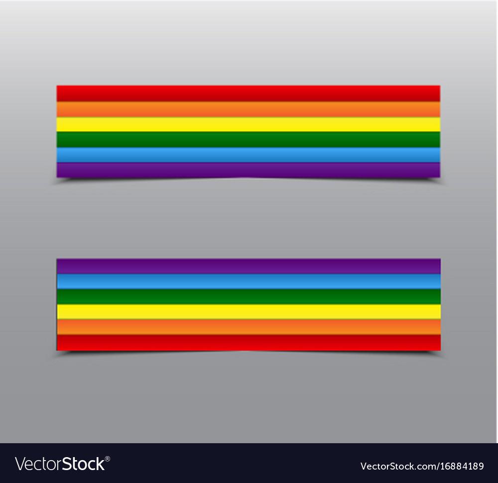 Lgbt pride rainbow stickers tag label card vector image