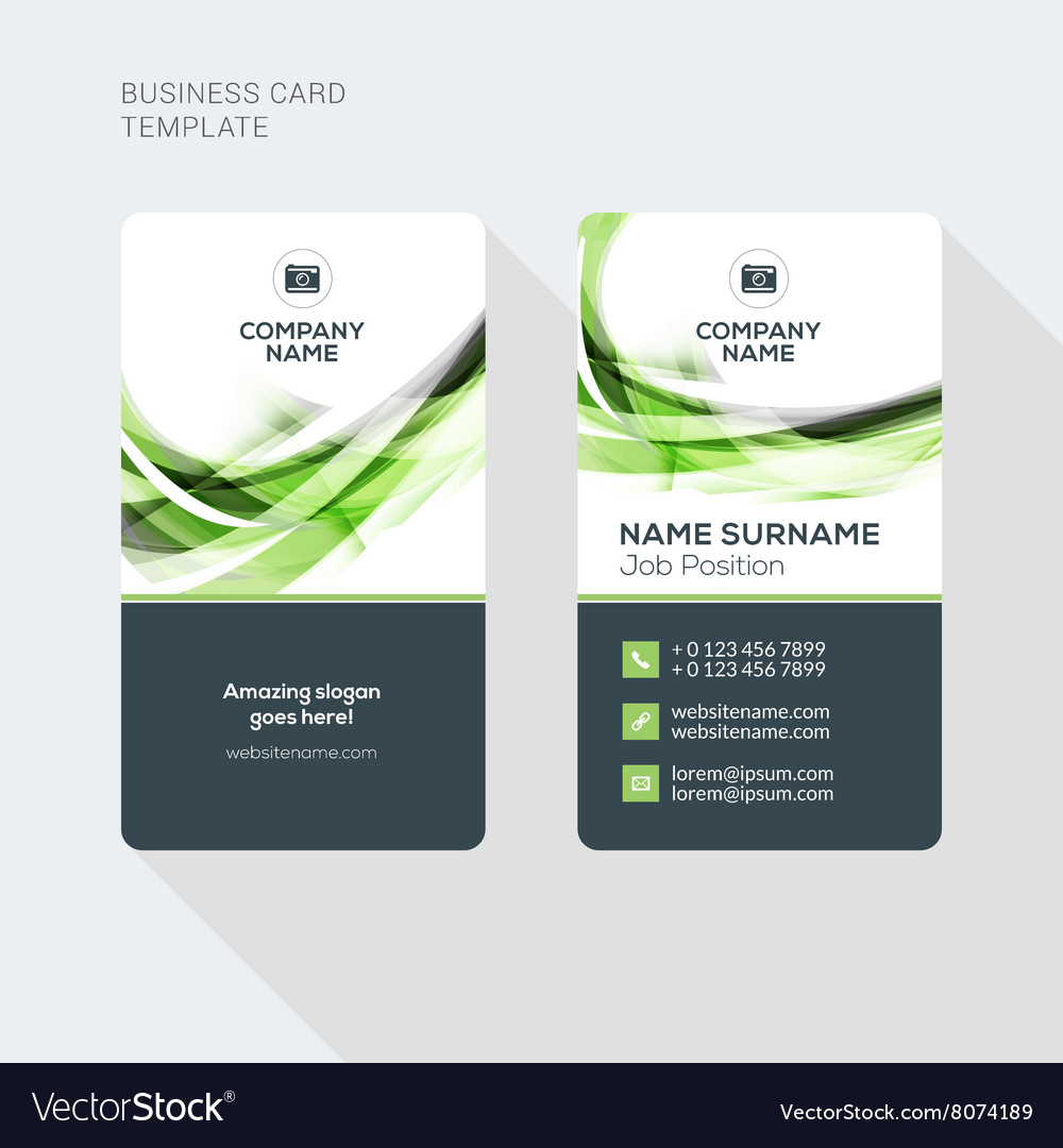 Modern creative and clean two sided business card vector image wajeb Image collections