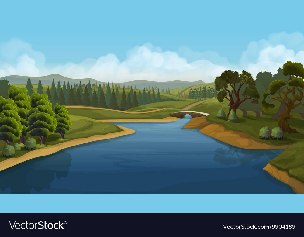 Nature landscape river background