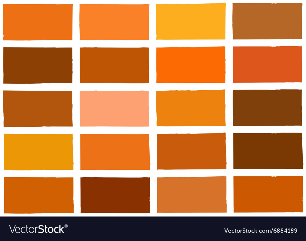 Orange Tone Color Shade Background Vector Image