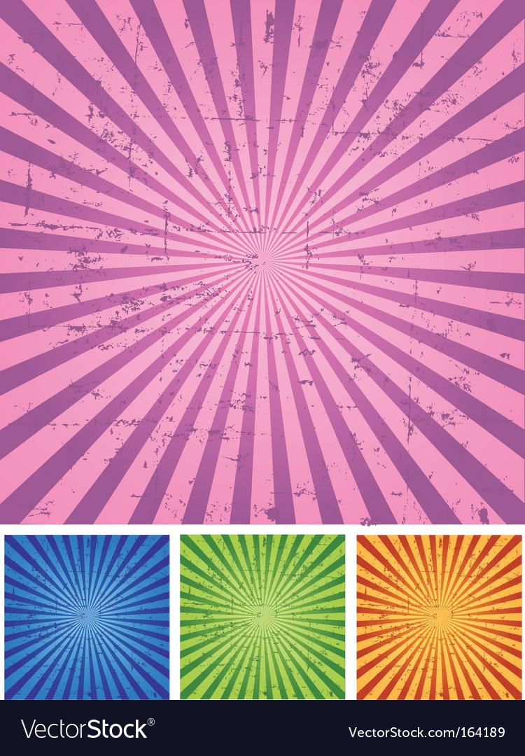 Retro radial background vector image