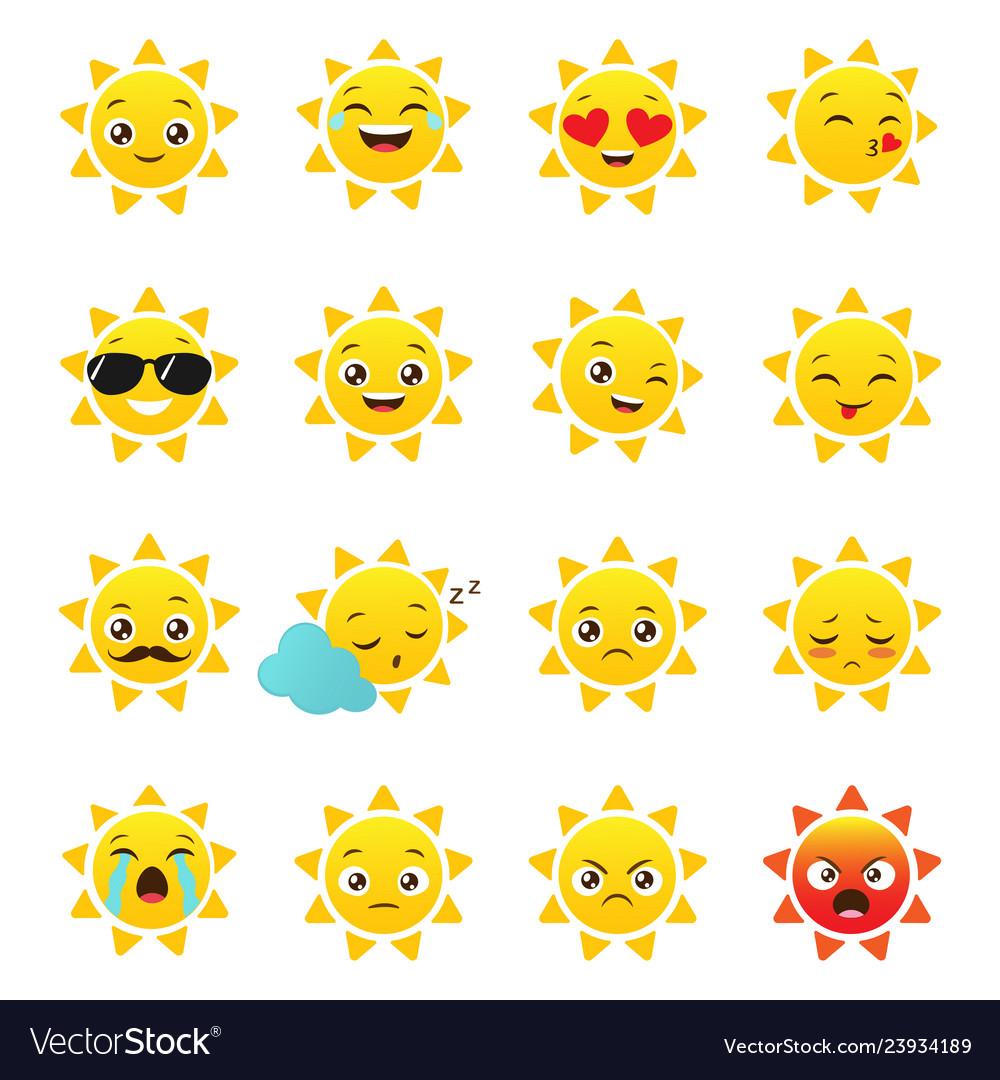 Sun emojis on a white background