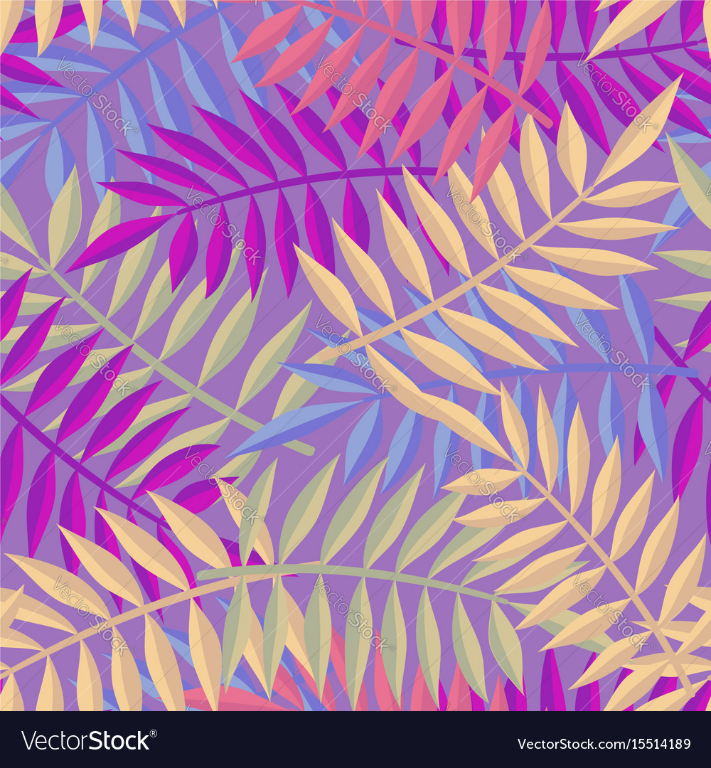Tropical summer jungle palm tree leaf background