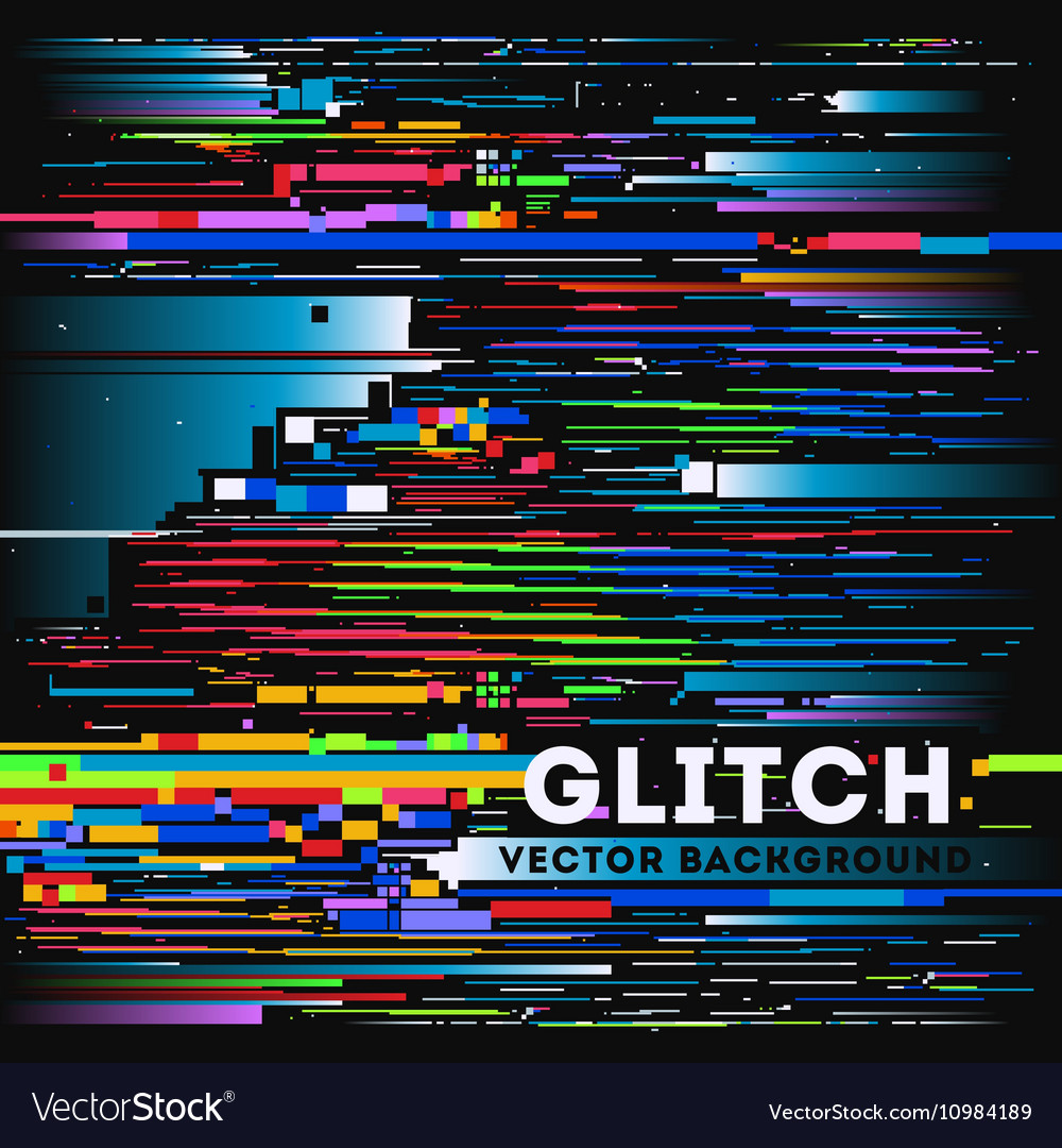 Tv glitch digital background