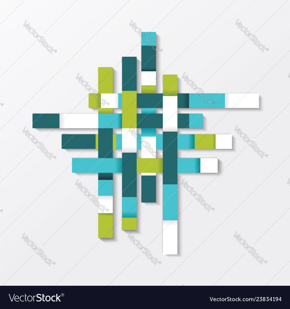 Abstract geometric shape from blue green and