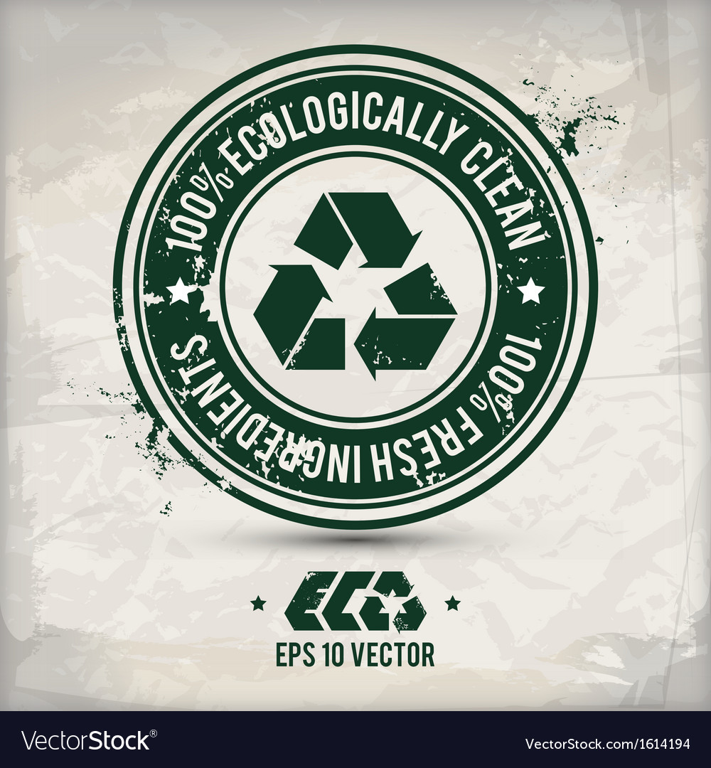 Alternative eco label vector image