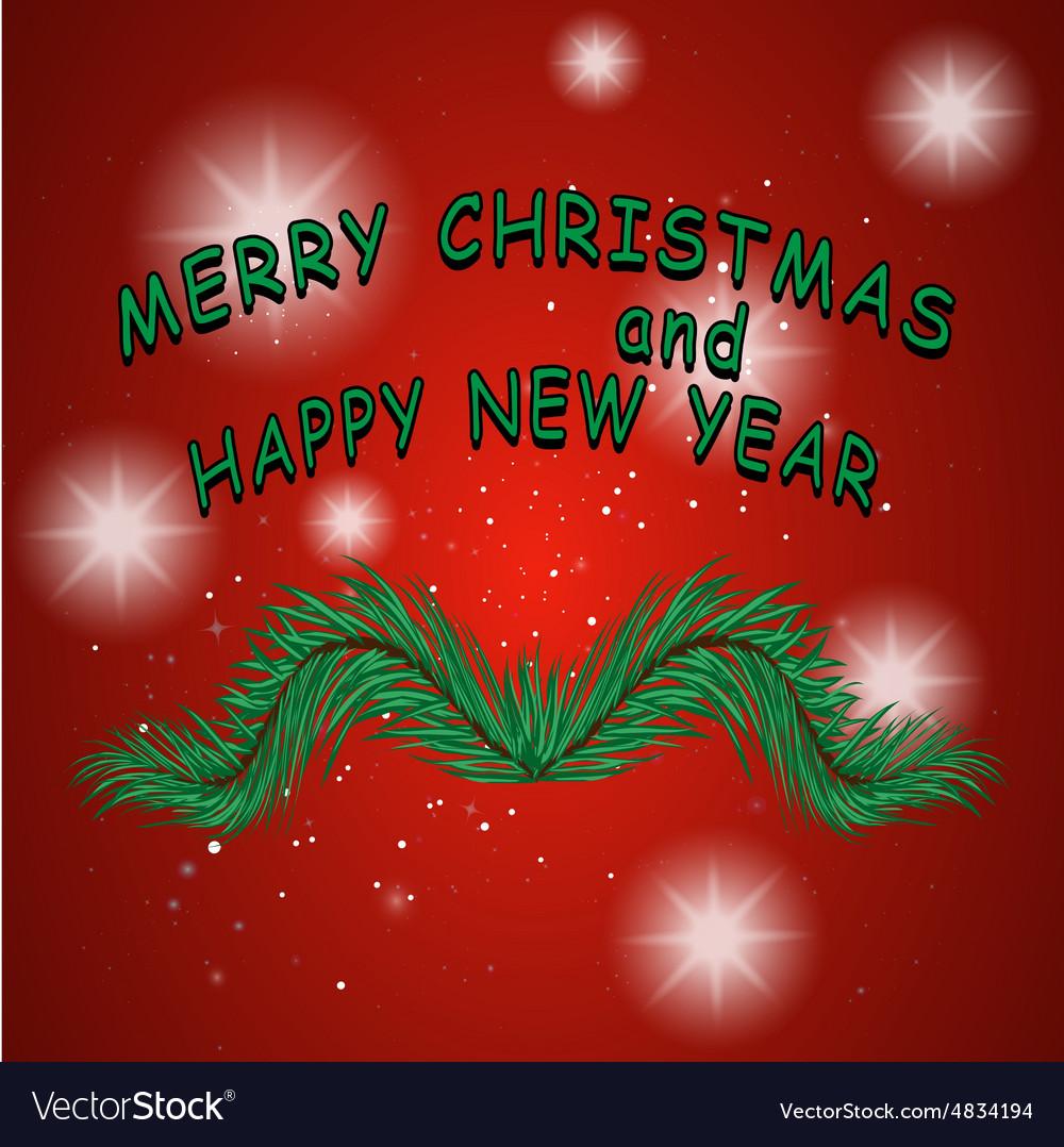 Christmas mustache vector image
