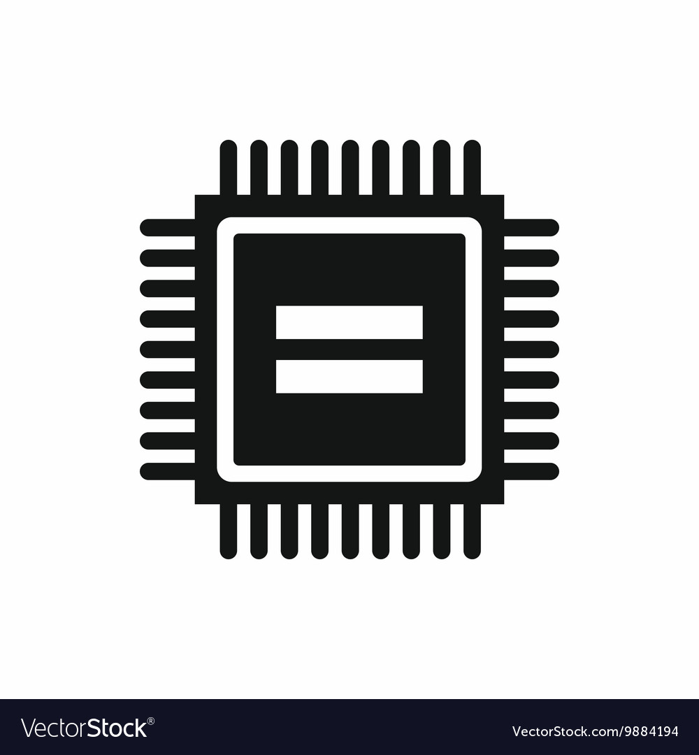 Electronic Circuit Board Icon Simple Style Vector Image Build A Images Of