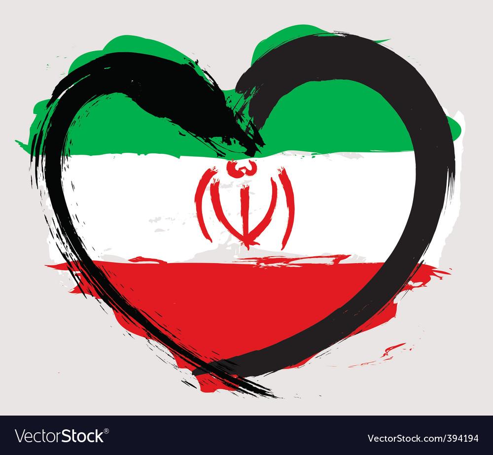 Iran heart shape flag