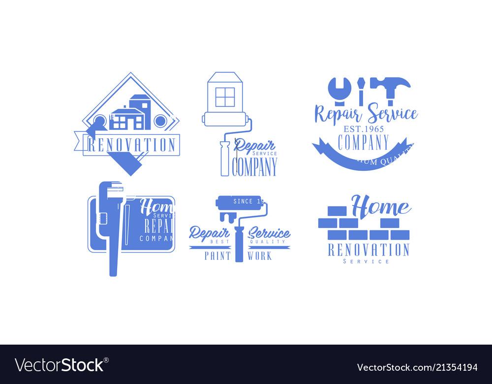 Original blue logos for repair services