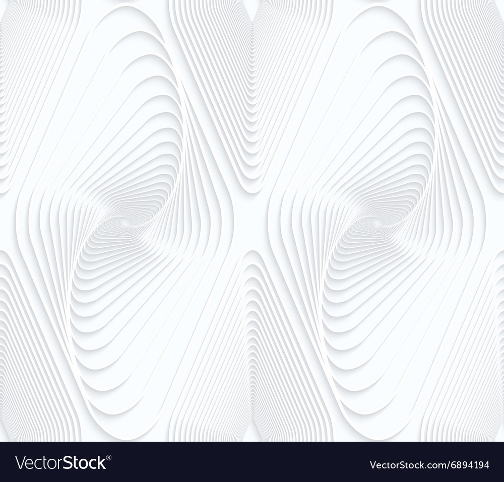 Quilling white paper swirled offset diamonds vector image