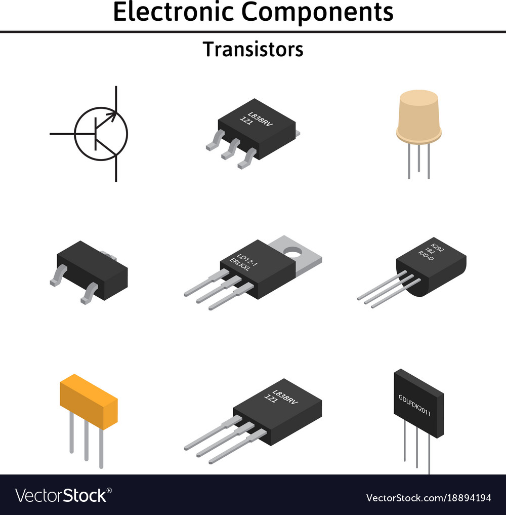 D Electronic Components Great Installation Of Wiring Diagram Circuit Symbols Set Izometric Royalty Free Vector Rh Vectorstock Com Component