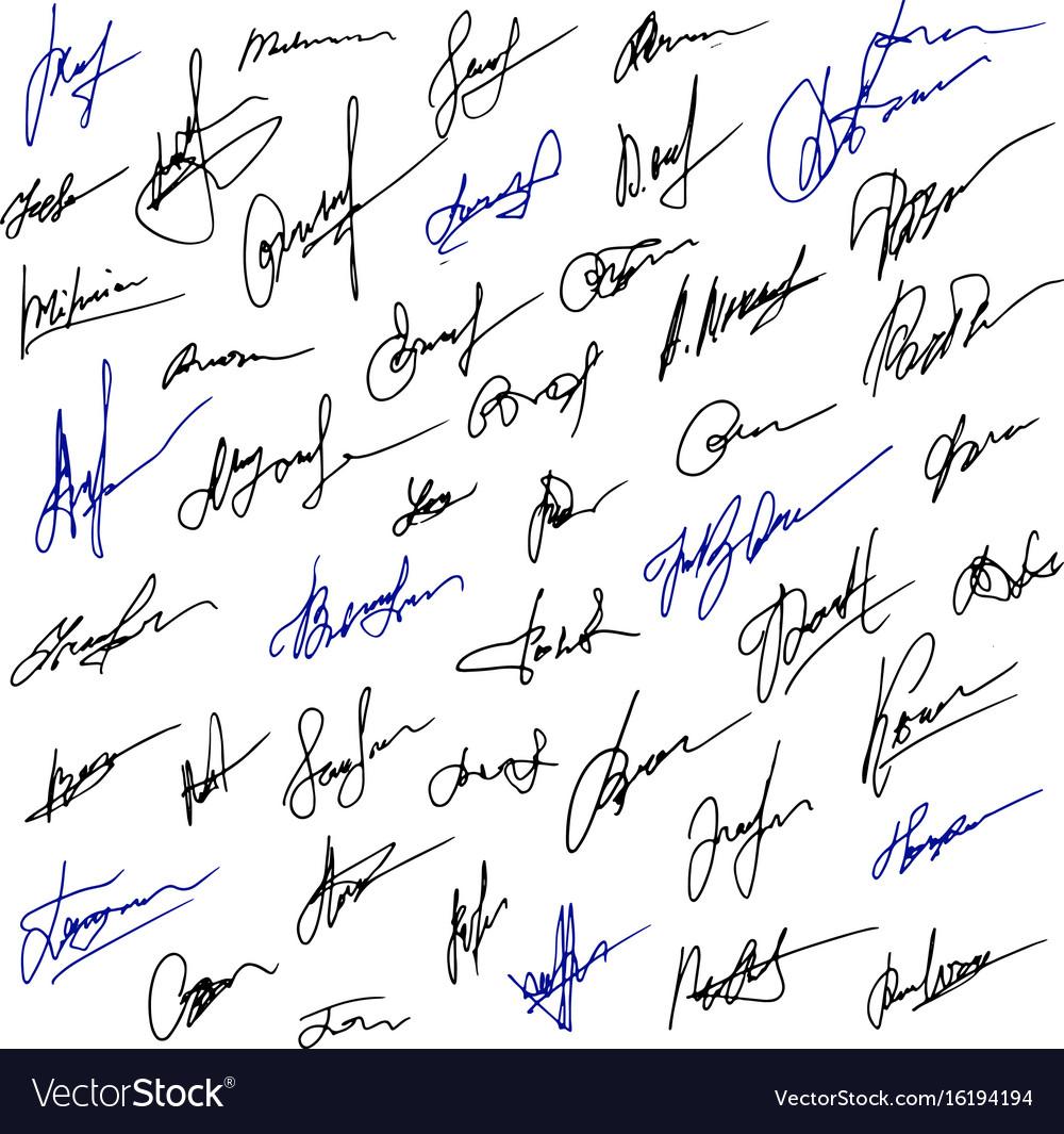 handwritten signature