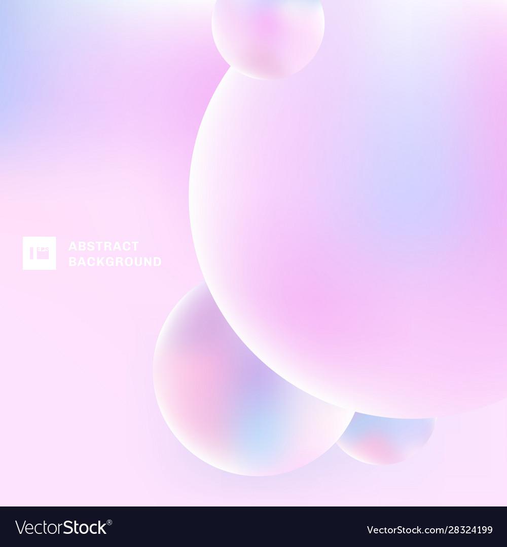 abstract 3d circles bubbles pastel color vector 28324199