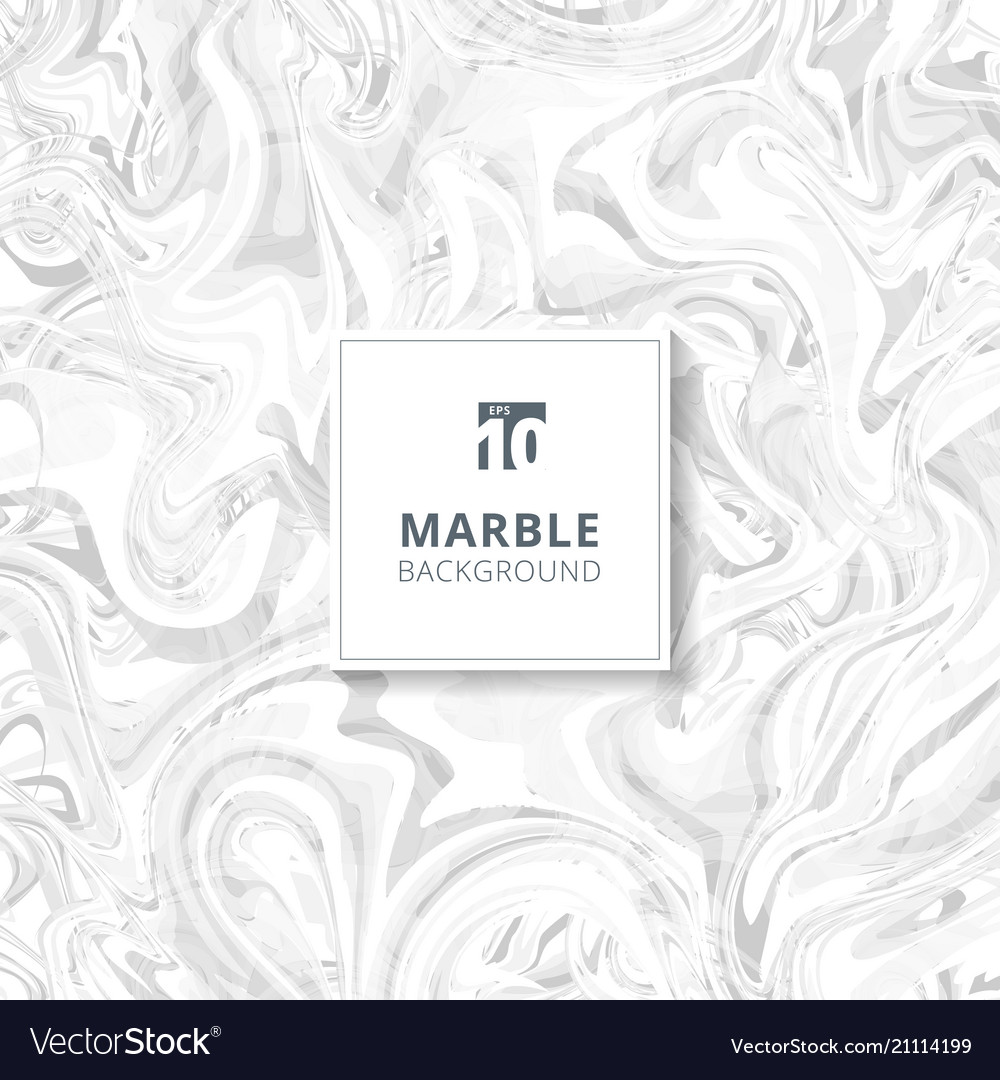 Abstract white and gray watercolor stains marble