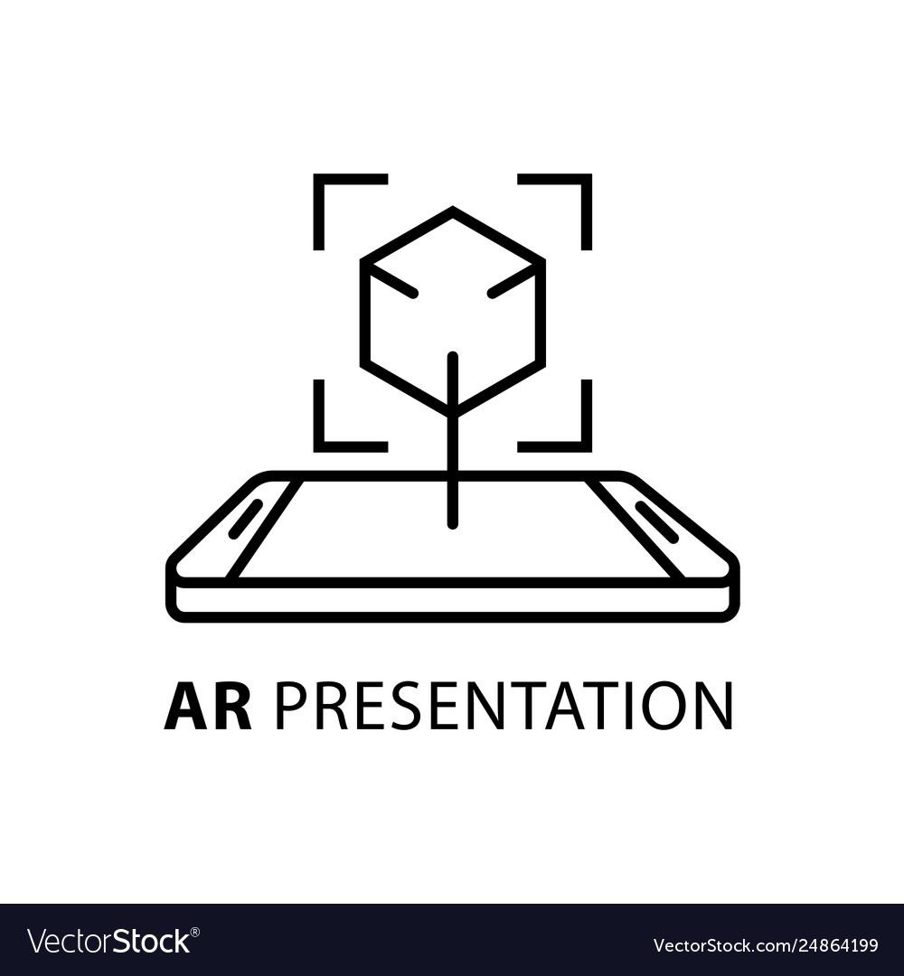 Ar presentation concept icon