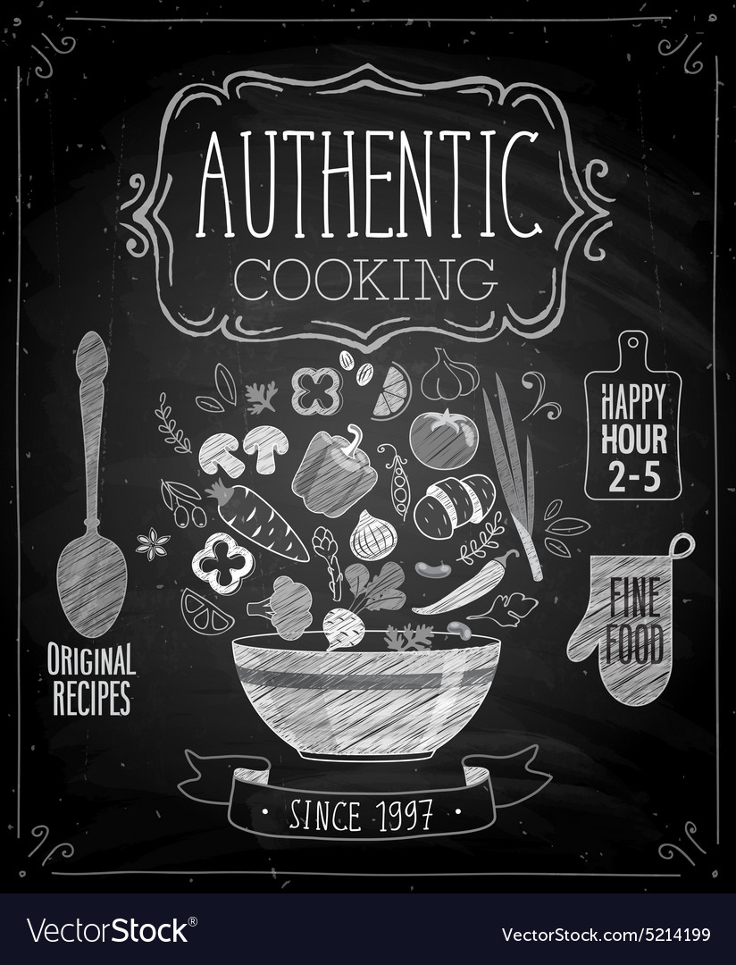 Authentic cooking poster
