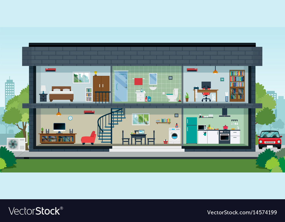 Inside the house vector image