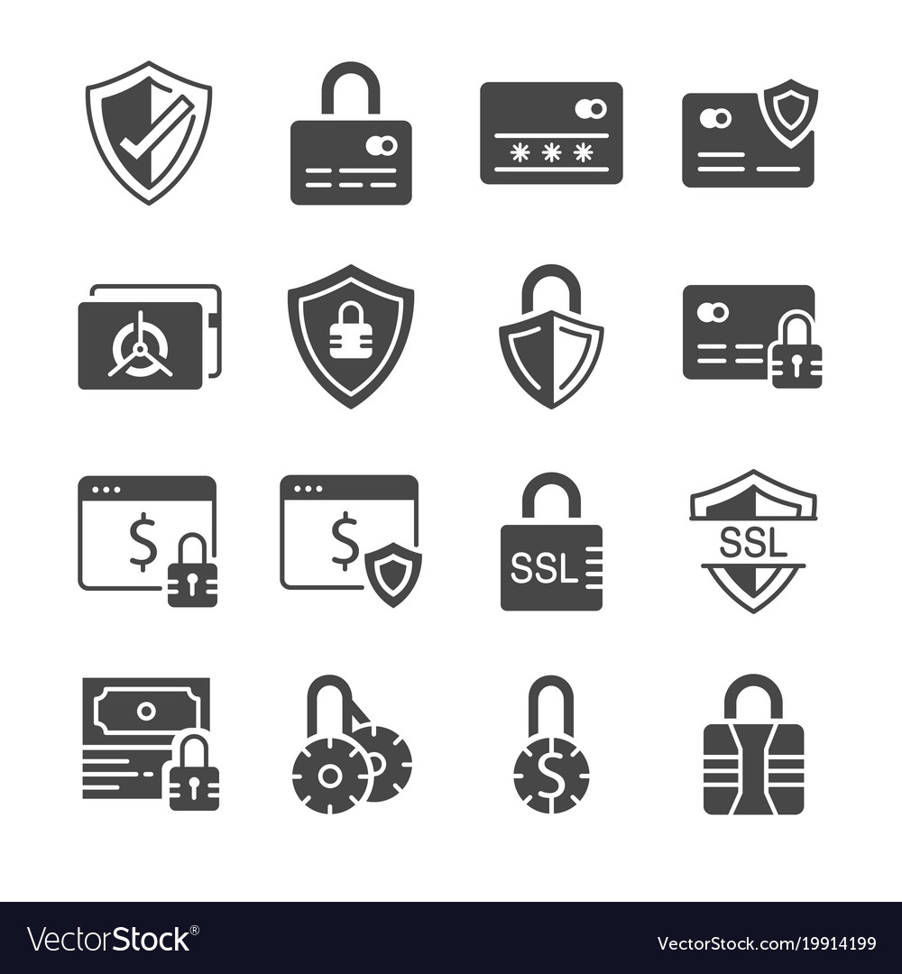 Secure payment icon set