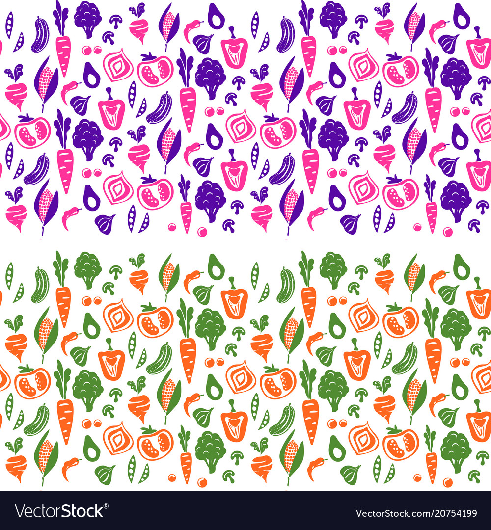 Vegetable border background for tins and