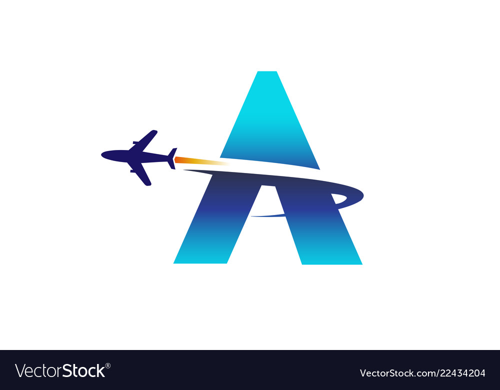 Abstract letter airplane logo