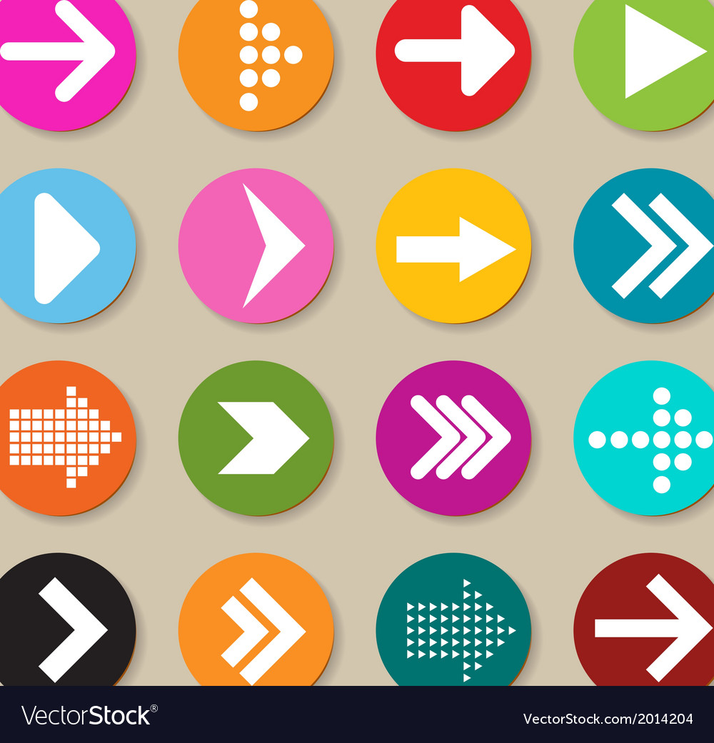 collection of arrow labels and icons royalty free vector