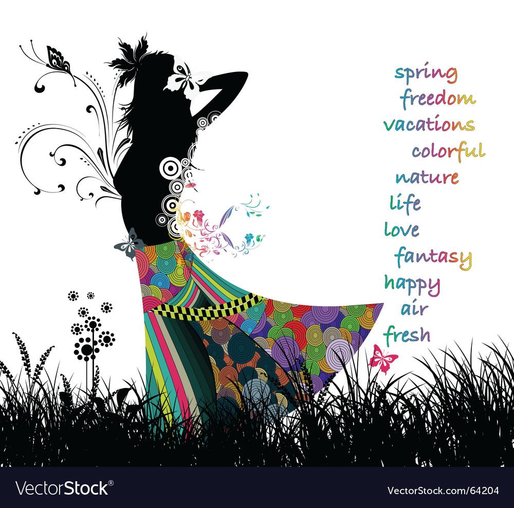 Dress woman vector image