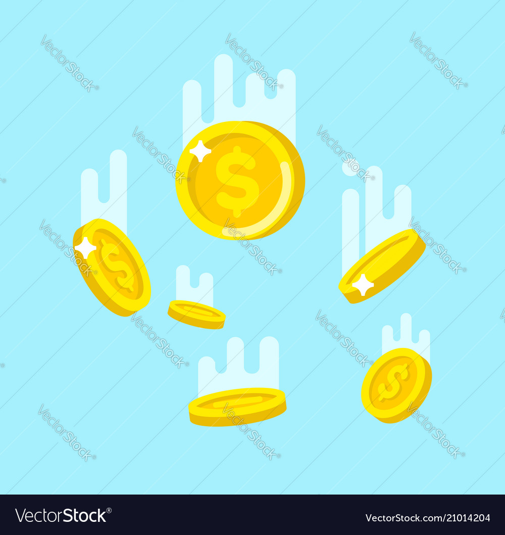 Flying down golden coins