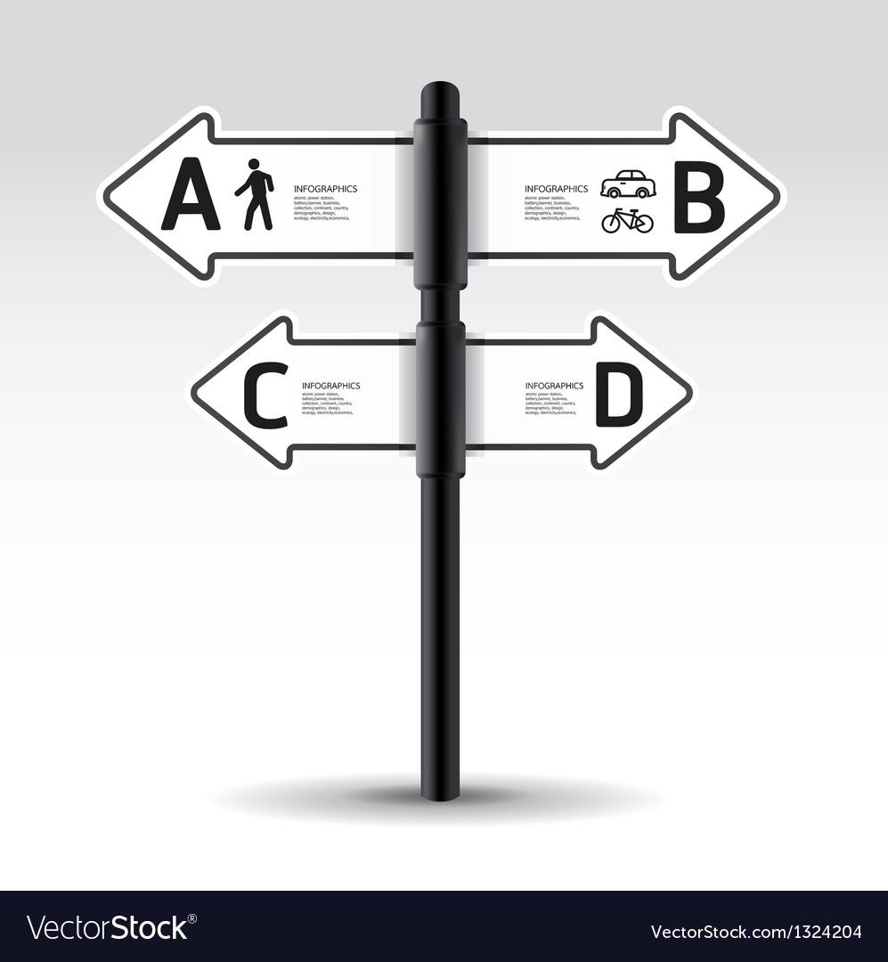Modern road sign Design template vector image