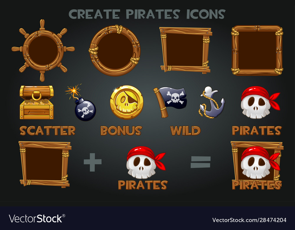 Set to create pirated icons and wooden frames