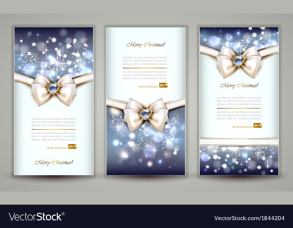 Three greeting cards vector image