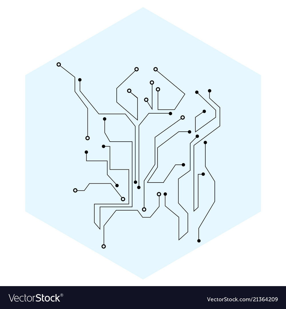 Abstract Circuit Board Minimal Background Vector Image Design