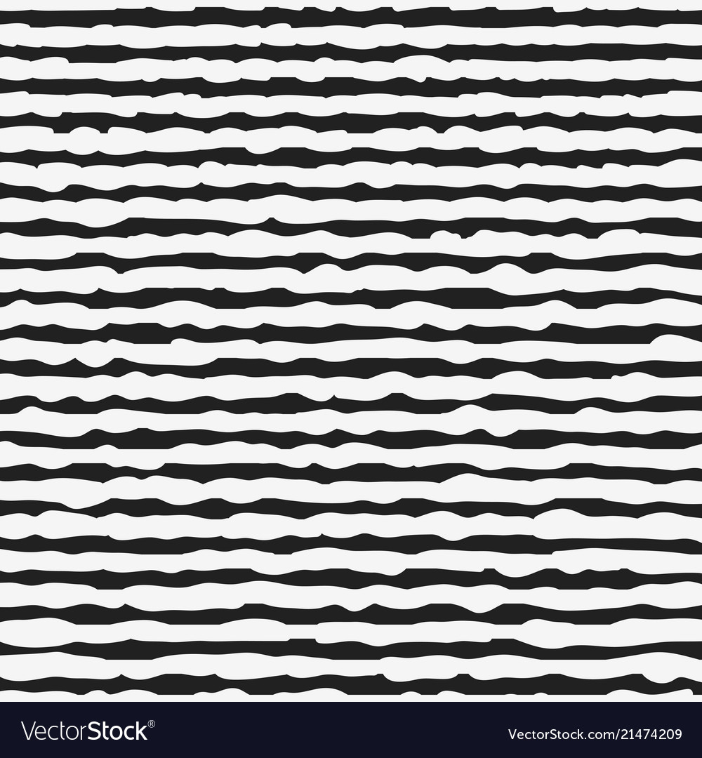 Black and white seamless pattern with hand drawn