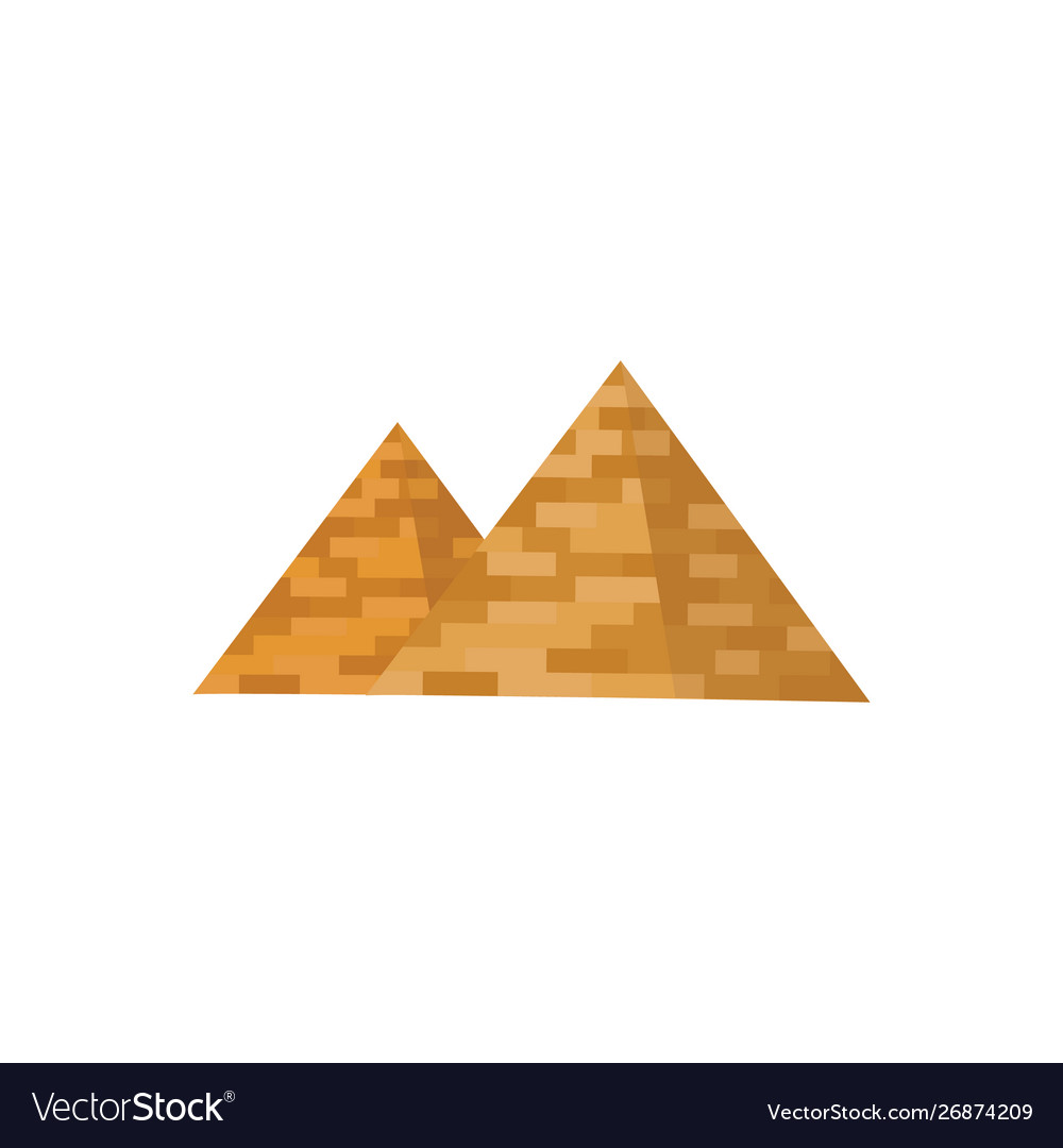 Egyptian pyramids icon historical and tourist
