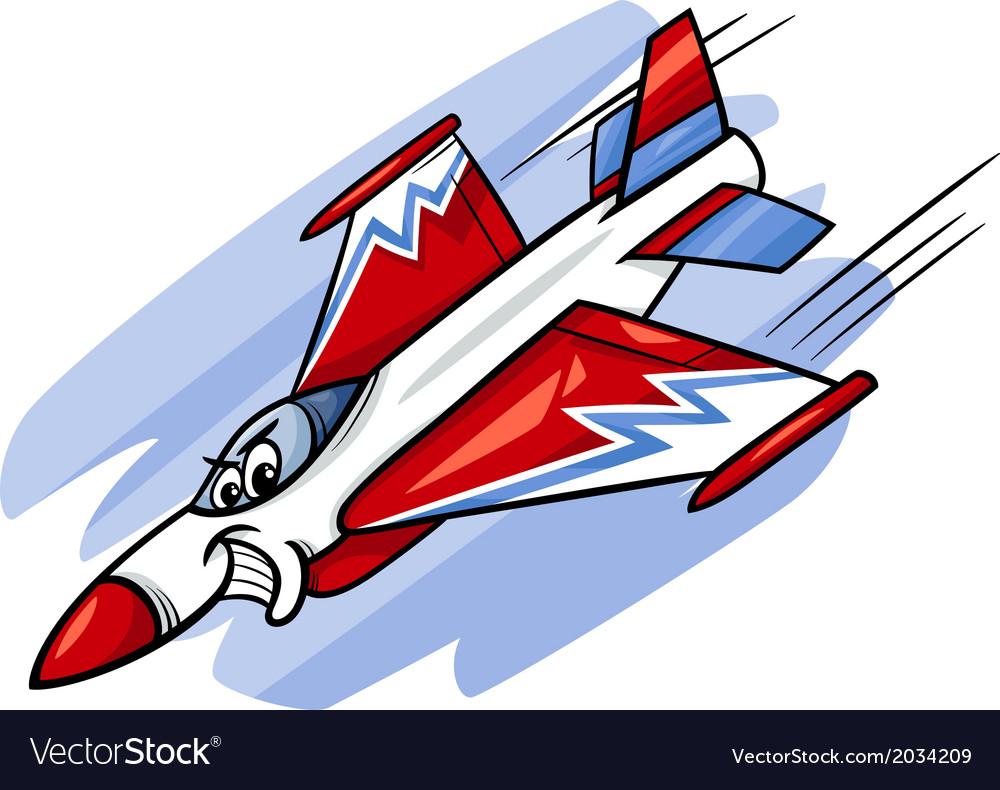Jet fighter plane cartoon
