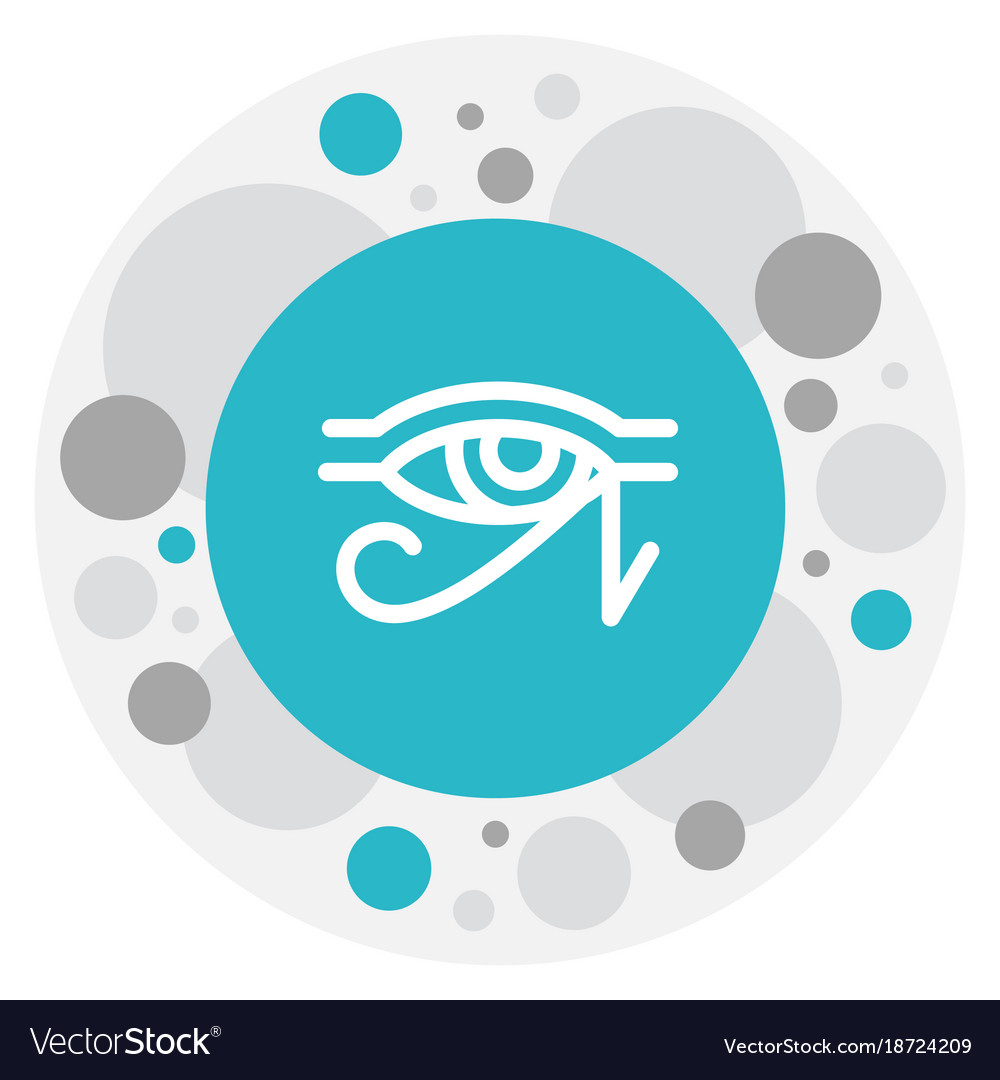 Of dyne symbol on horus eye vector image