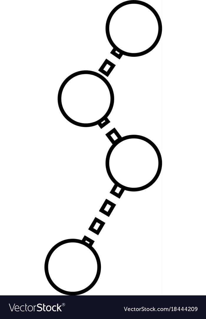 Route black icon vector image