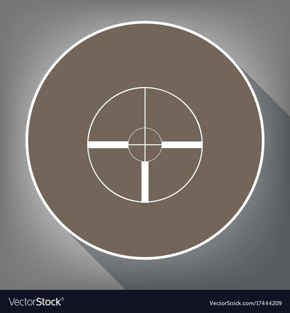 Sight sign white icon on