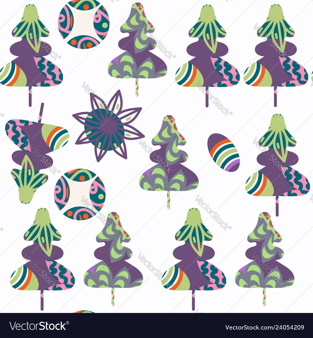 Spruce-tree seamless pattern it is located in