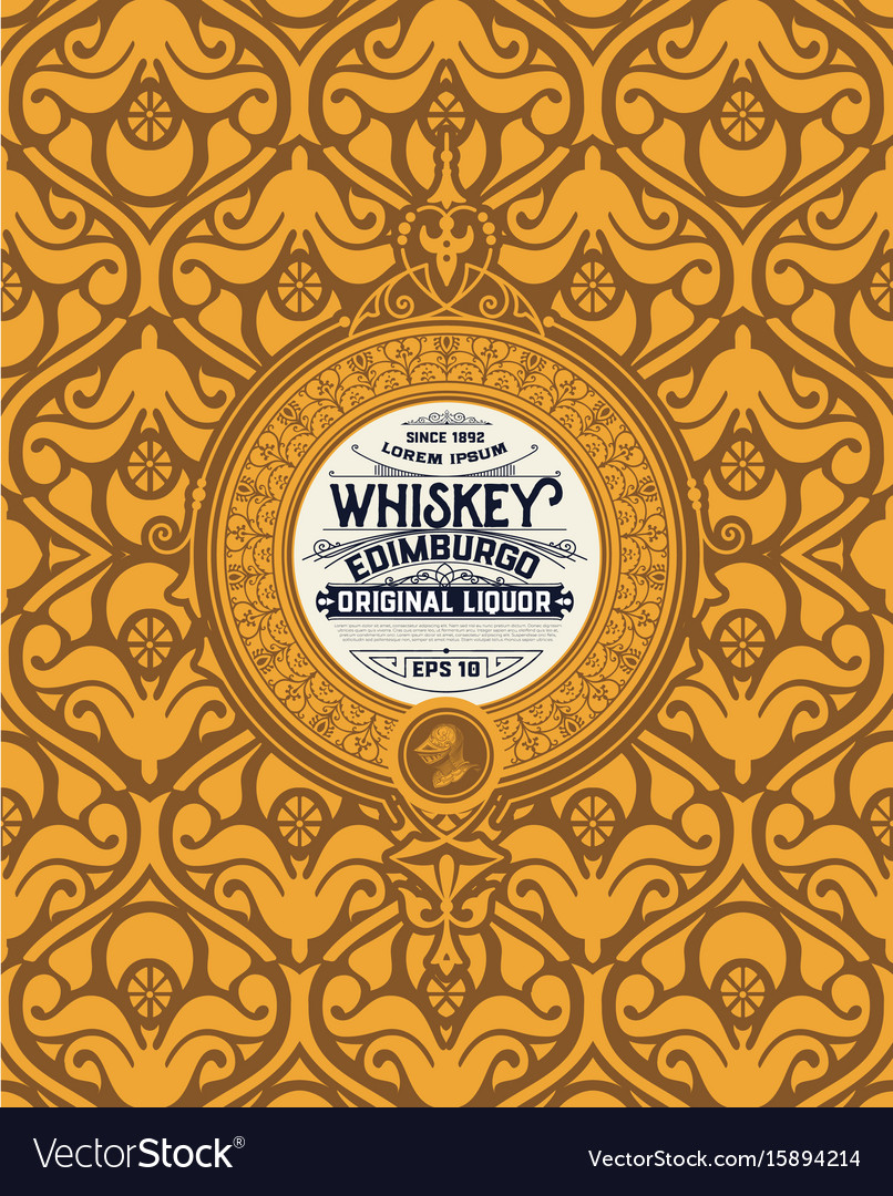 Art-deco whiskey label
