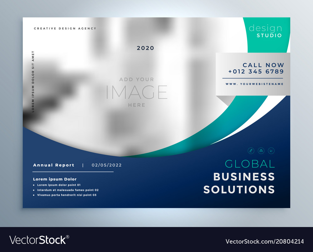 Business brochure flyer modern presentation
